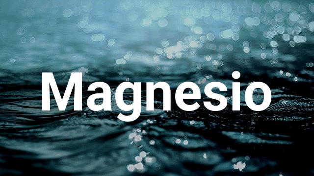 Magnesio, el gran relajante muscular 1/3