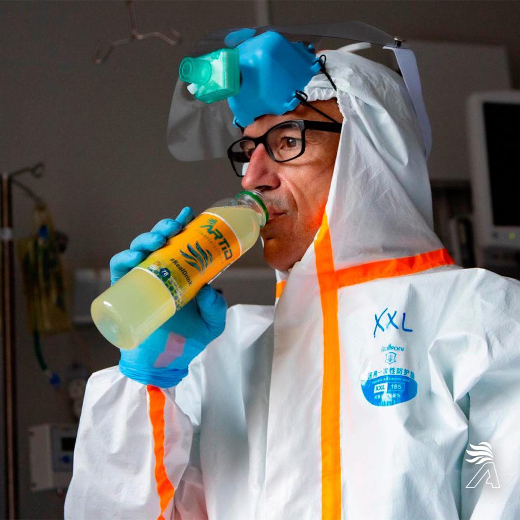 hidratación sanitarios coronavirus