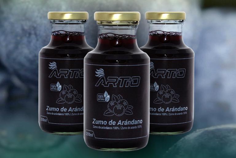 zumo de arandanos artio
